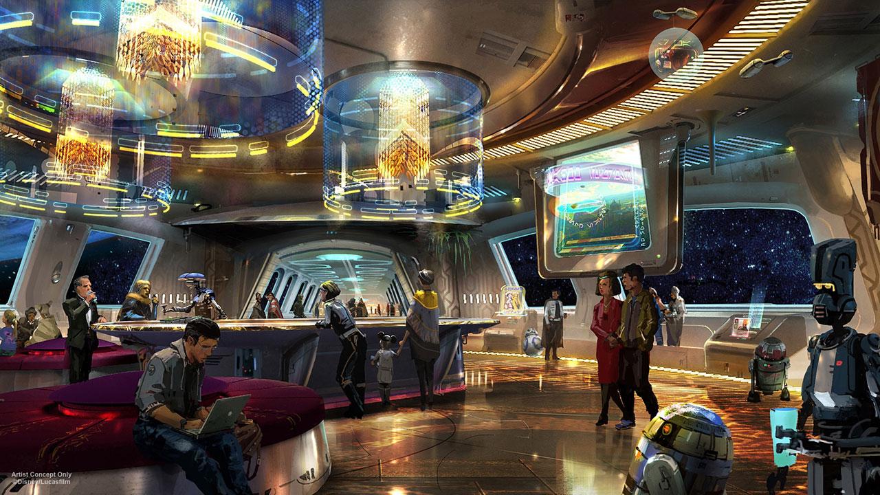star wars hotel interno disney parco