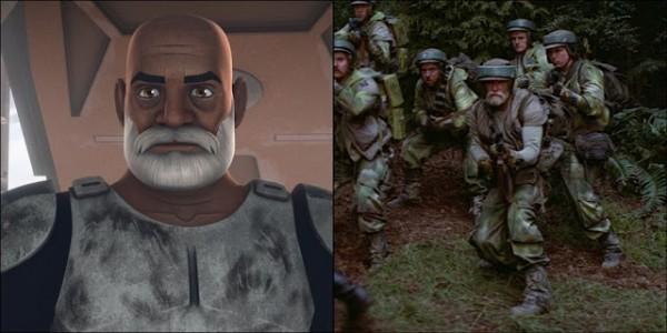 cloni e rex in star wars episodio vi