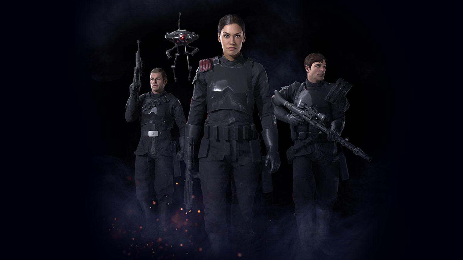 genitori di rey inferno squad battlefront II star wars