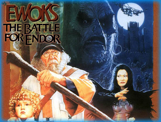 star wars locandina ewoks film anni 80