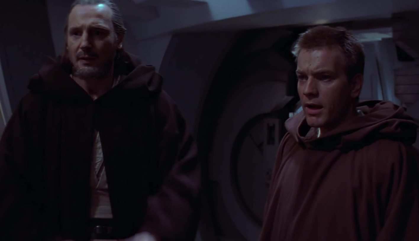 obi wan qui-gon episodio i nave dederazione mercanti ho un brutto presentimento
