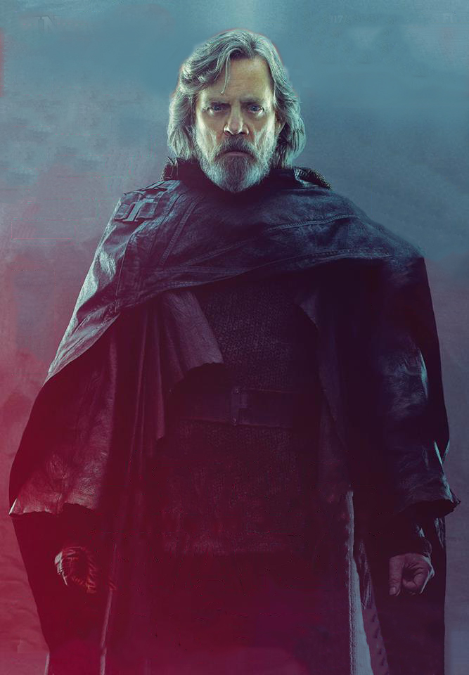 nuovo look di luke in star wars the last jedi
