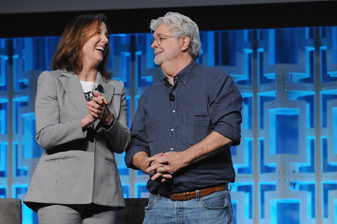 star wars celebration orlando kathleen kennedy george lucas