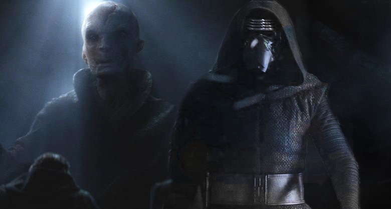 snoke kylo ren e il lato oscuro