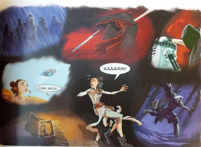visione rey fumetto star wars episodio vii il risveglio della forza