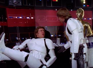 luke skywalker spalla di han solo in star wars