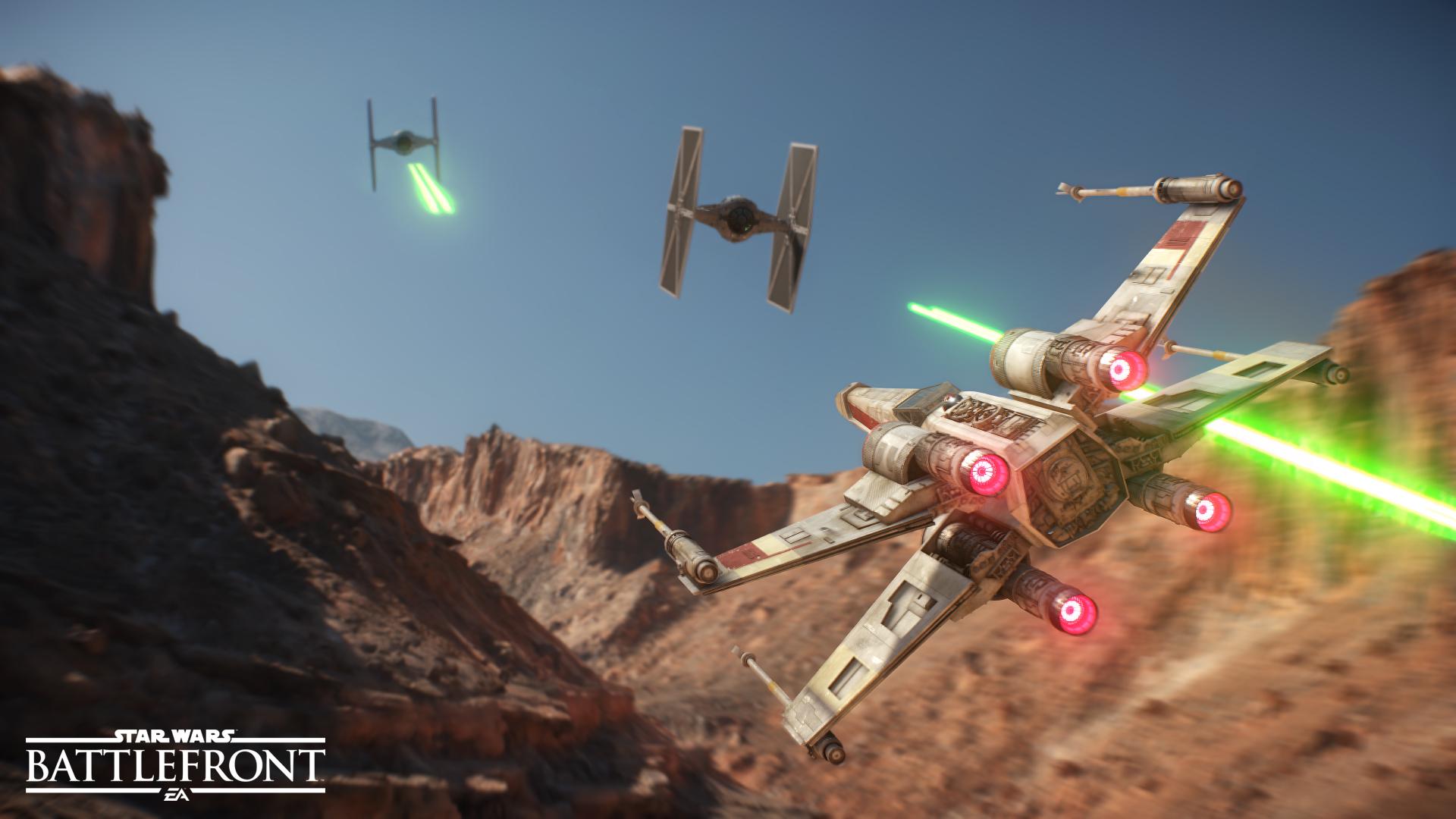 star wars battlefront battaglia aerea tie fighter vs x-wing