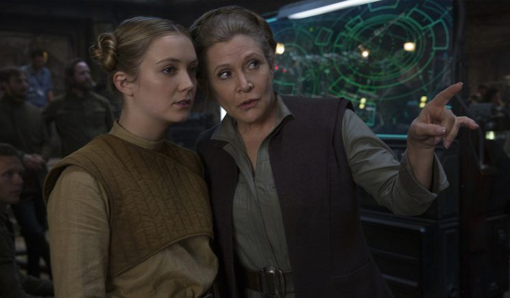 billie lourd parla di sua madre carrie fisher e star wars