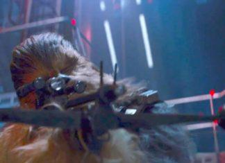 star wars il risveglio della forza chewbacca balestra spada kylo ren