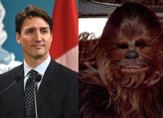 star wars primo ministro justin trudeau canada guai calzini chewbacca