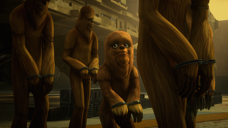 wookiee star wars rebels miniere di kessel