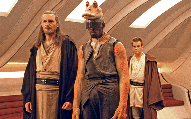 ahmed best difende jar jar binks di star wars