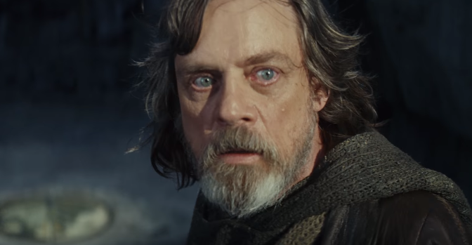 la paura di Luke Skywalker nel trailer di Episodio VIII