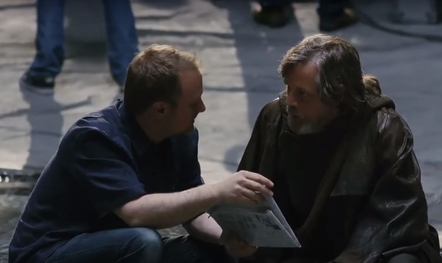 mark hamill luke skywalker regia rian johnson episodio viii star wars the last jedi
