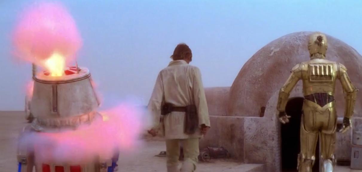 droide rosso di star wars episodio iv