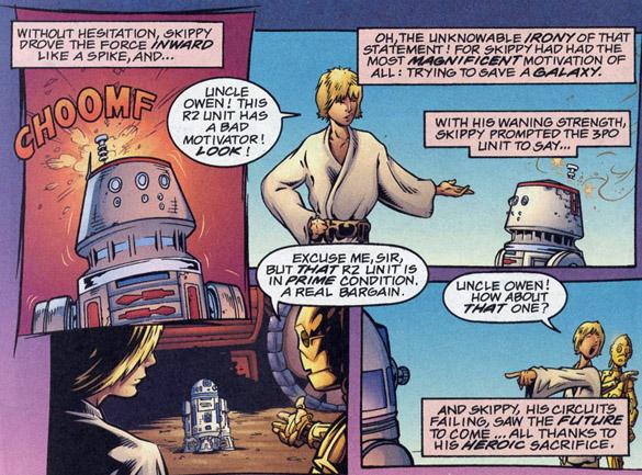 storia di skippy, droide rosso star wars legends