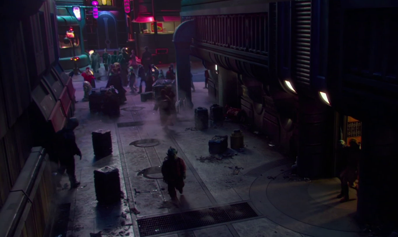 cyberpunk star wars lattacco dei cloni coruscant episodio ii