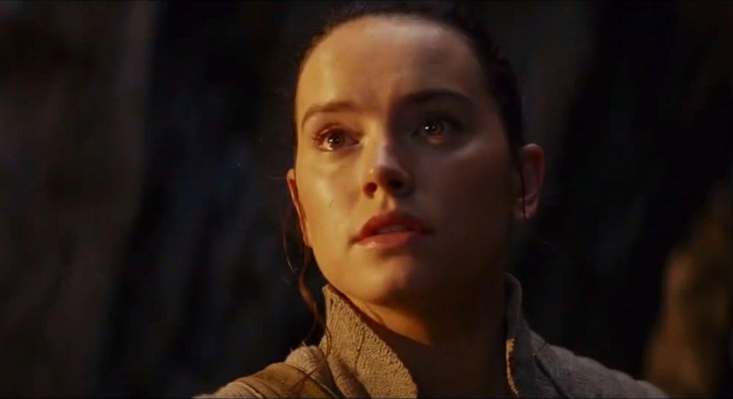 Rey luke skywalker kylo ren the last jedi star wars tv spot