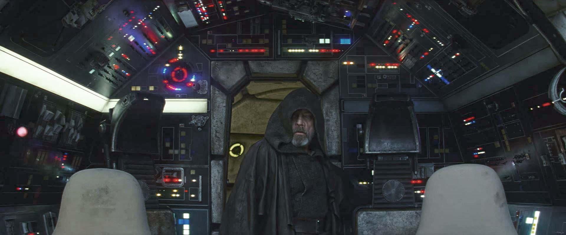 star wars the last jedi millennium falcon luke skywalker trailer