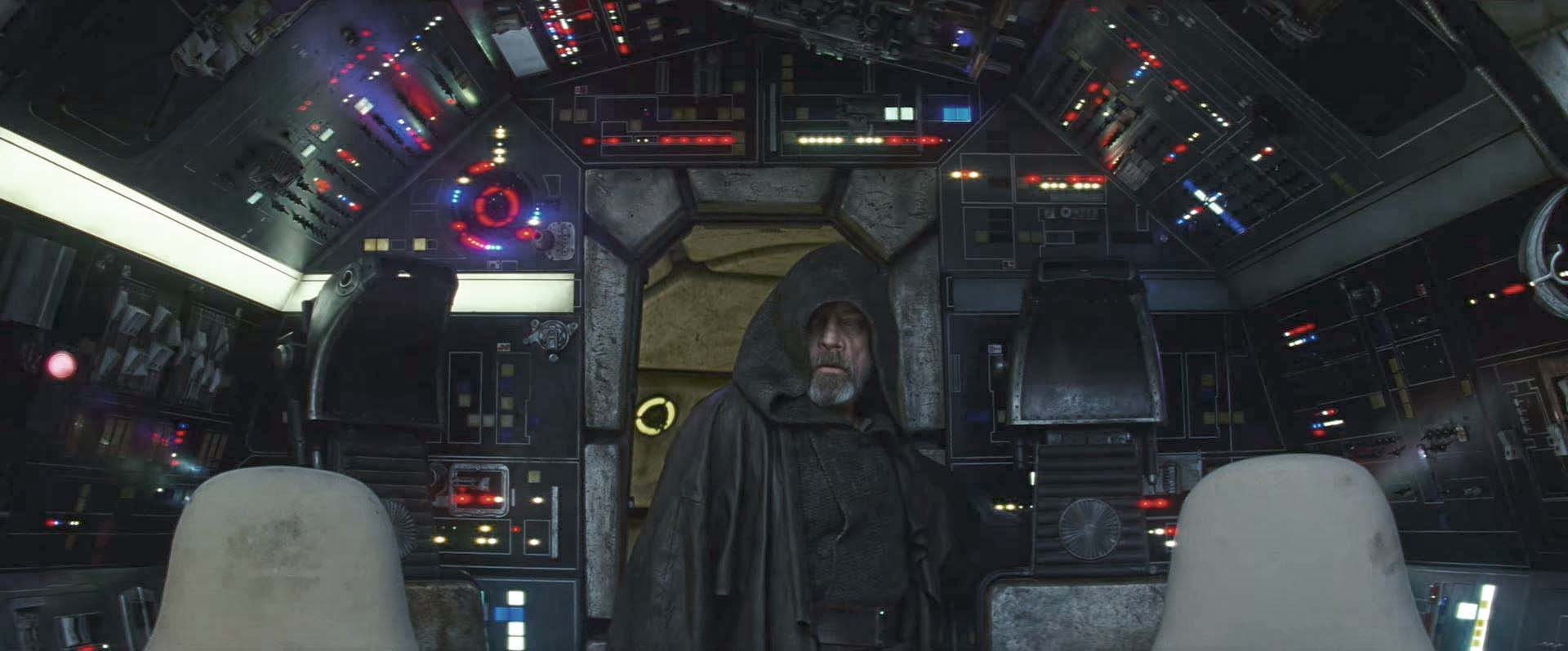 mark hamill clone luke star wars the last jedi millennium falcon luke skywalker trailer