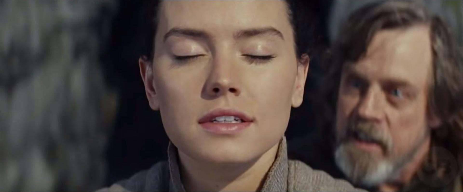 pubblicità trailer the last jedi star wars luke rey addestramento