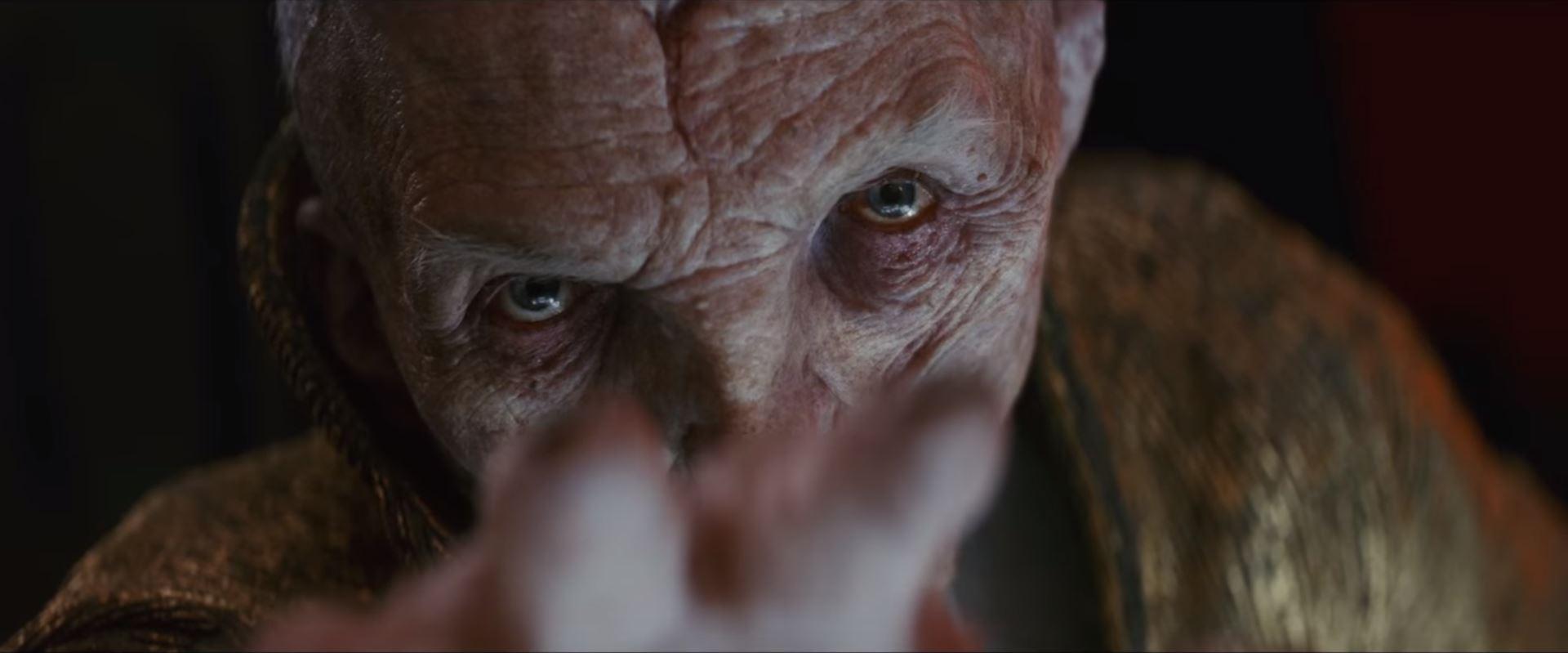 star wars the last jedi trailer snoke