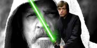 CGI spada laser verde di luke skywalker the last jedi