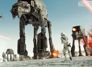 star wars battlefront 2 gioco ea at-at crait the last jedi