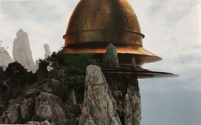 star wars the last jedi artwork concept tempio jedi Episodio viii george lucas rian johnson