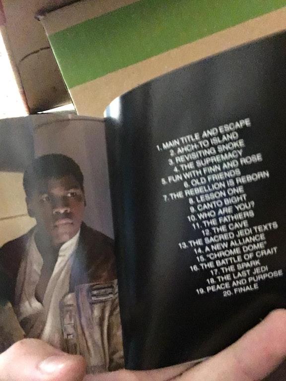 leak delle tracce della colonna sonora di star wars the last jedi