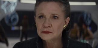 lucas scena di Leia in star wars the last jedi