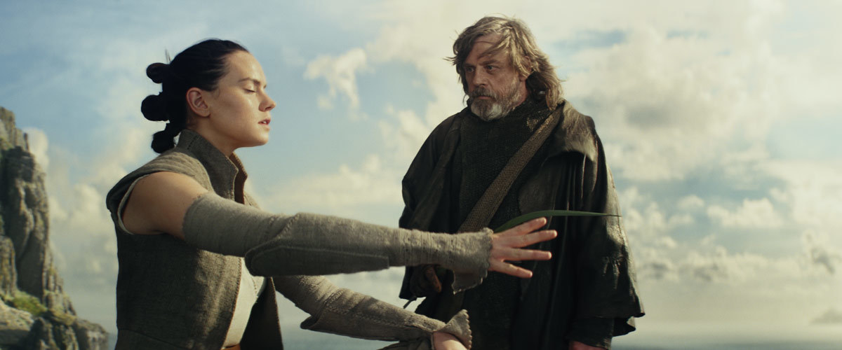 rey e luke star wars the last jedi e la forza