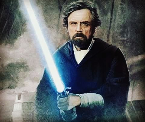 luke skywalker su crait star wars the last jedi