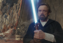 spada laser blu di luke in star wars the last jedi