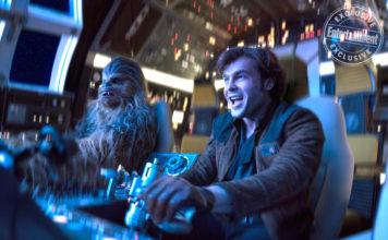 han solo e chewbacca sul millennium falcon star wars