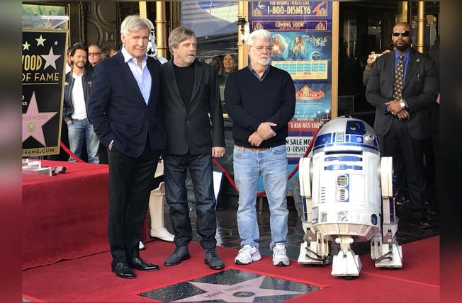 stella a mark hamill sulla hollywood walk of fame