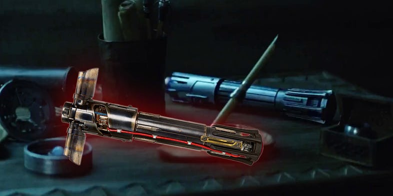 spada laser blu di kylo ren star wars