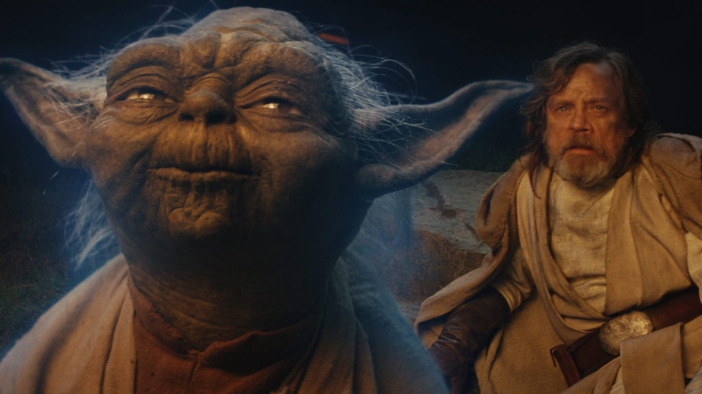 yoda luke e leia nelle tre trilogie