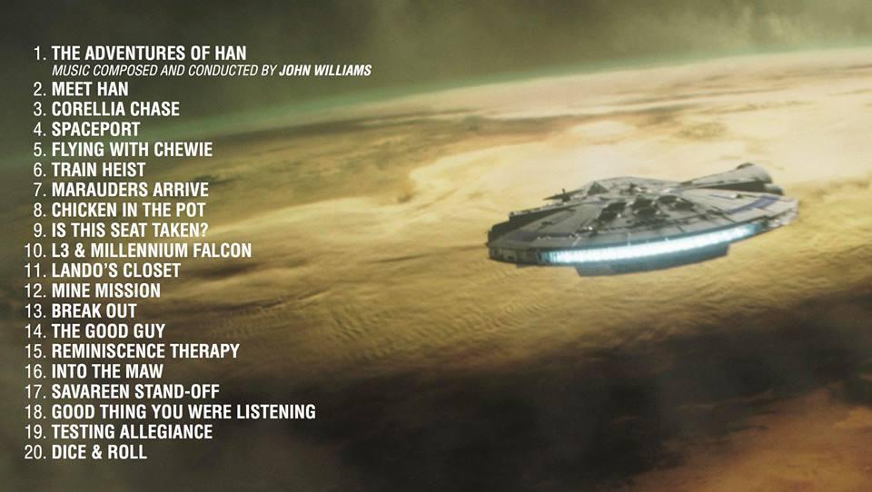 tracce di solo a star wars story