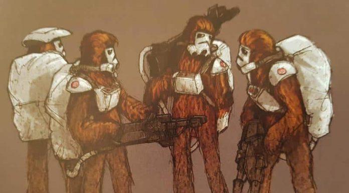 solo artwork wookiee stormtrooper