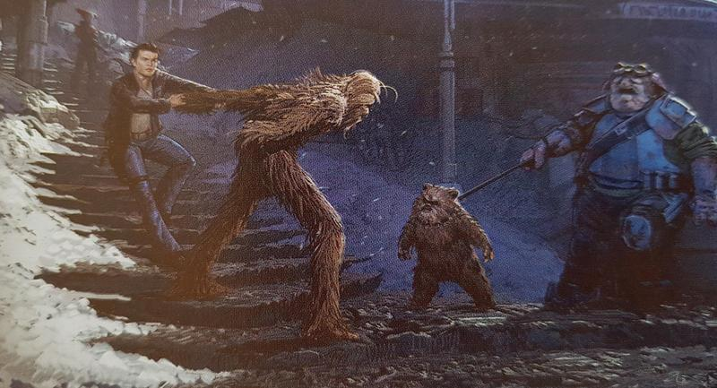 ewok chewbacca solo artwork