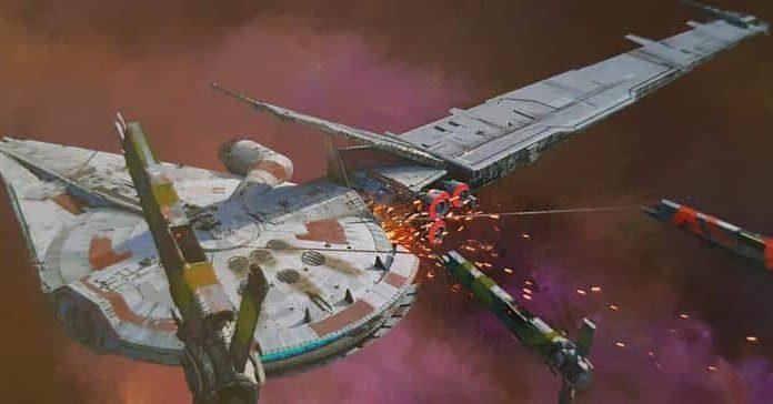 star wars solo artwork millennium falcon