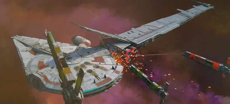 star wars solo artwork millennium falcon