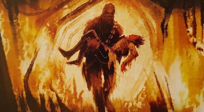 solo artwork concept art chewbacca han solo