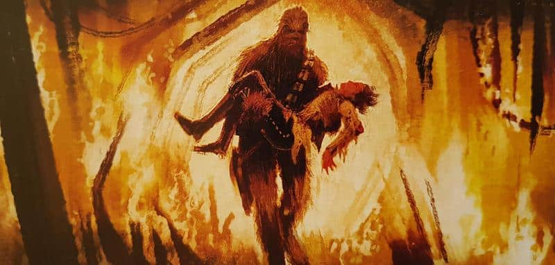 solo artwork concept art chewbacca han solo