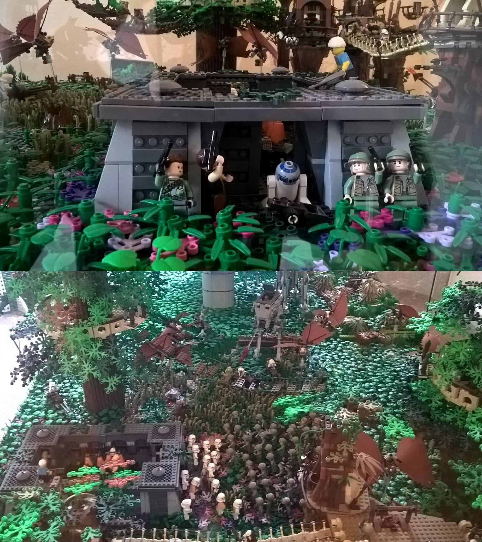 luna boscosa di endor mostra lego star wars