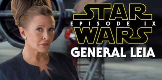 carrie fisher in star wars episodio IX