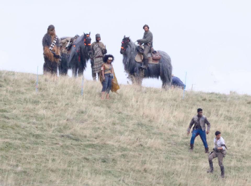 scatti dal set di star wars episodio ix