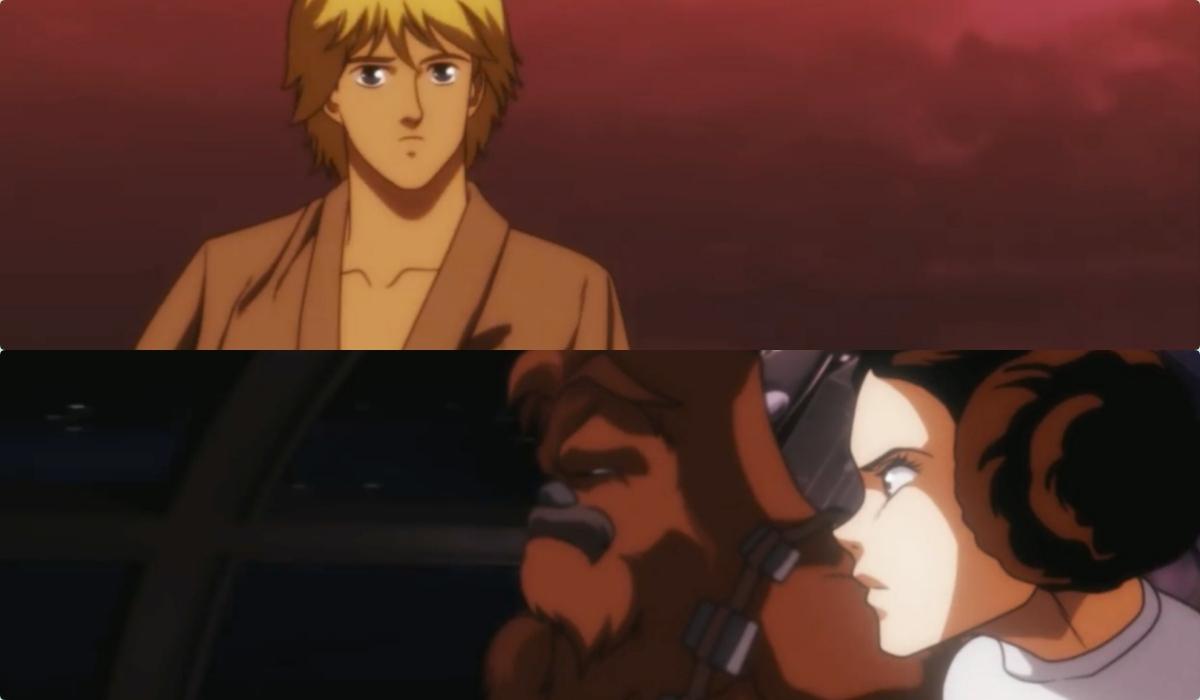 star wars una nuova speranza in stile anime