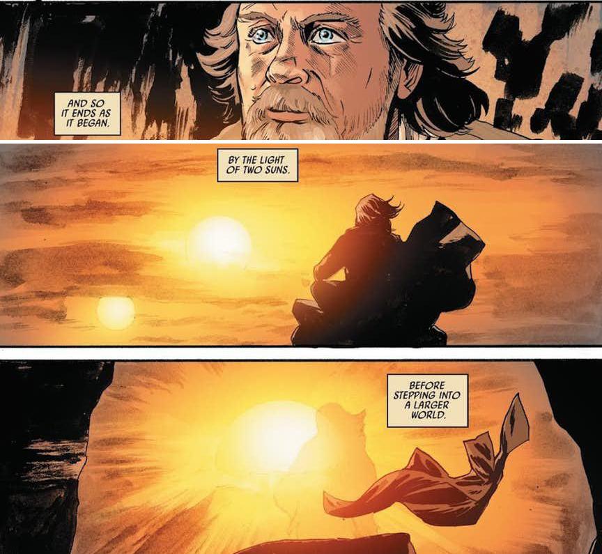 ultimi pensieri di luke skywalker star wars the last jedi